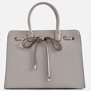 Faux Leather Grey Tote